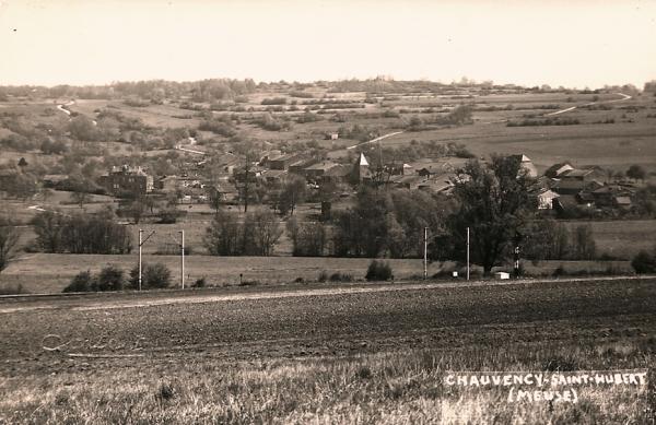 Chauvency-Saint-Hubert (Meuse) La voie ferrée CPA