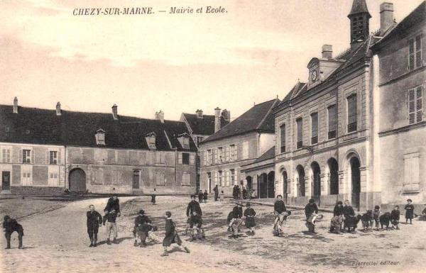 Chézy-sur-Marne (Aisne) CPA Mairie et école