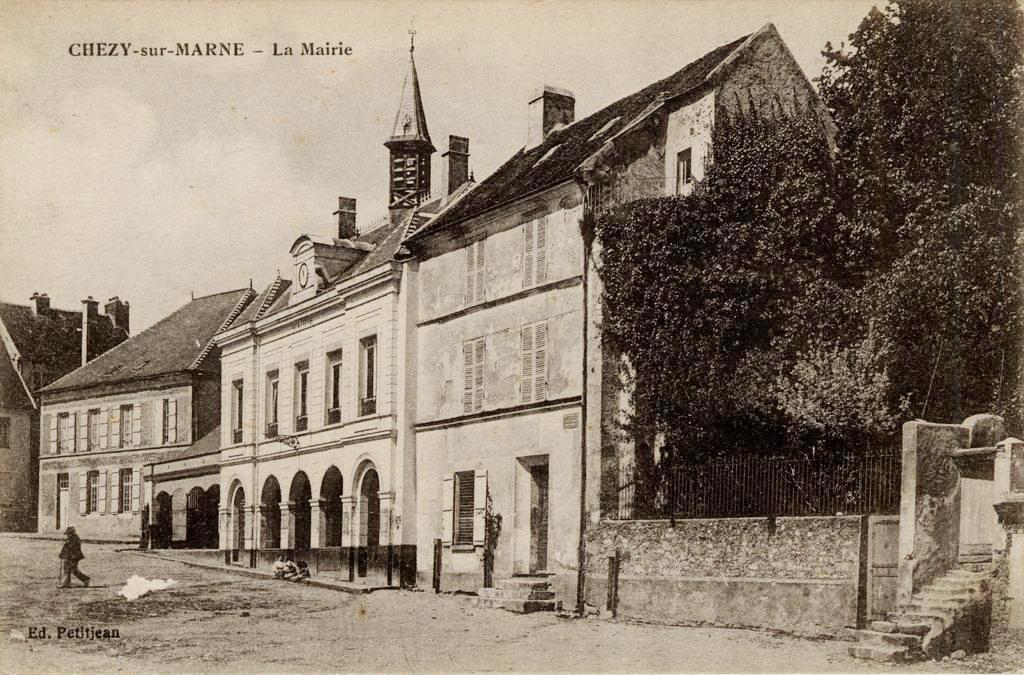 Chézy-sur-Marne (Aisne) CPA Mairie