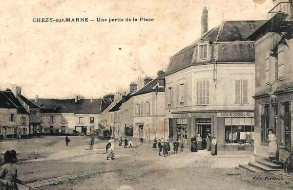 Chézy-sur-Marne (Aisne) CPA Place