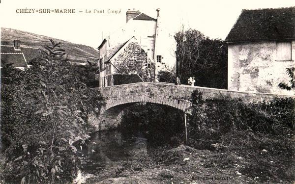 Chézy-sur-Marne (Aisne) CPA Pont congé
