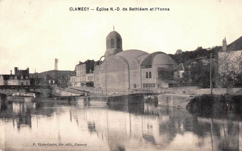 Clamecy (Nièvre) L'église de Bethléem CPA