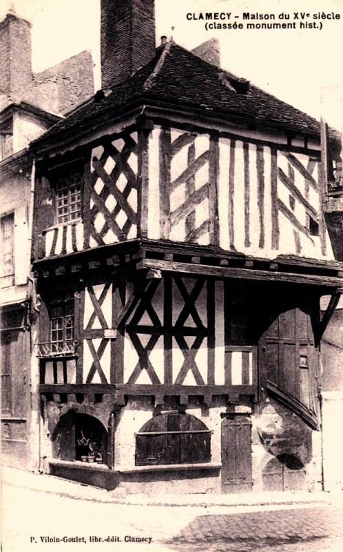 Clamecy (Nièvre) La maison du Tisserand CPA