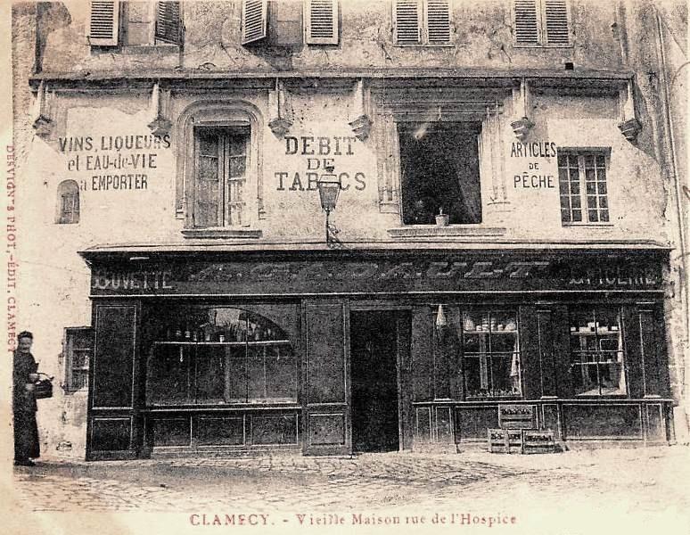 Clamecy (Nièvre) La rue de l'hospice en 1900 CPA