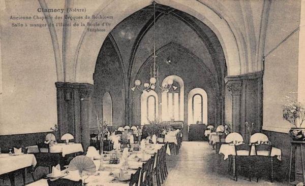Clamecy (Nièvre) La salle-à-manger de l'ancienne chapelle de Bethléem CPA