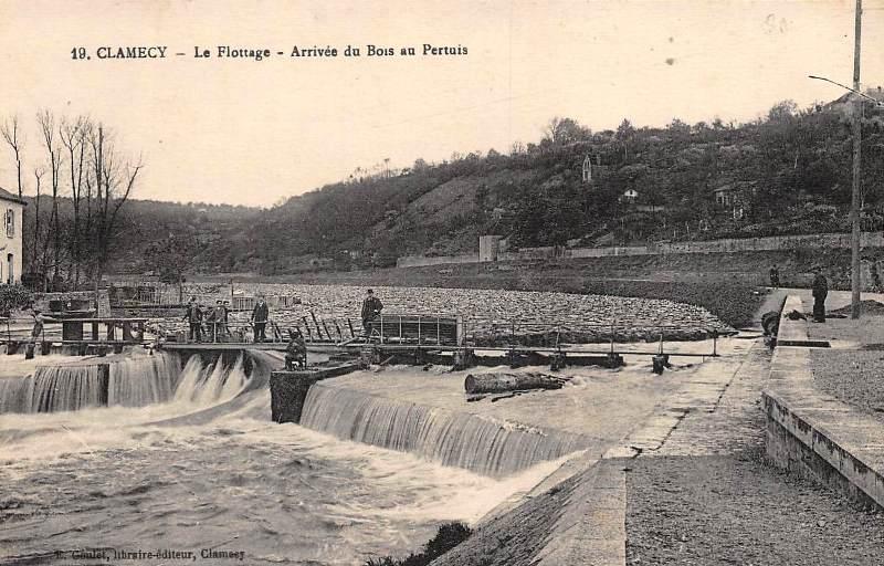 Clamecy (Nièvre) Le flottage  CPA