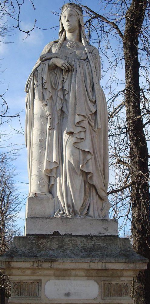 Clotilde, statue jardin du Luxembourg Paris
