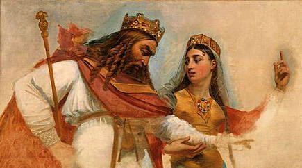 Clovis Ier et sa seconde épouse Clotilde