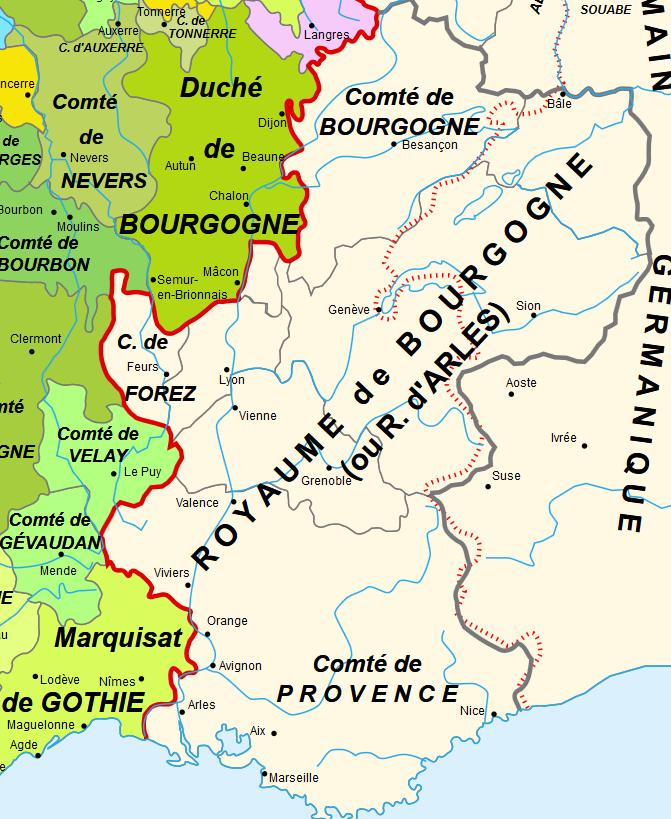Le comté de Provence en 1030