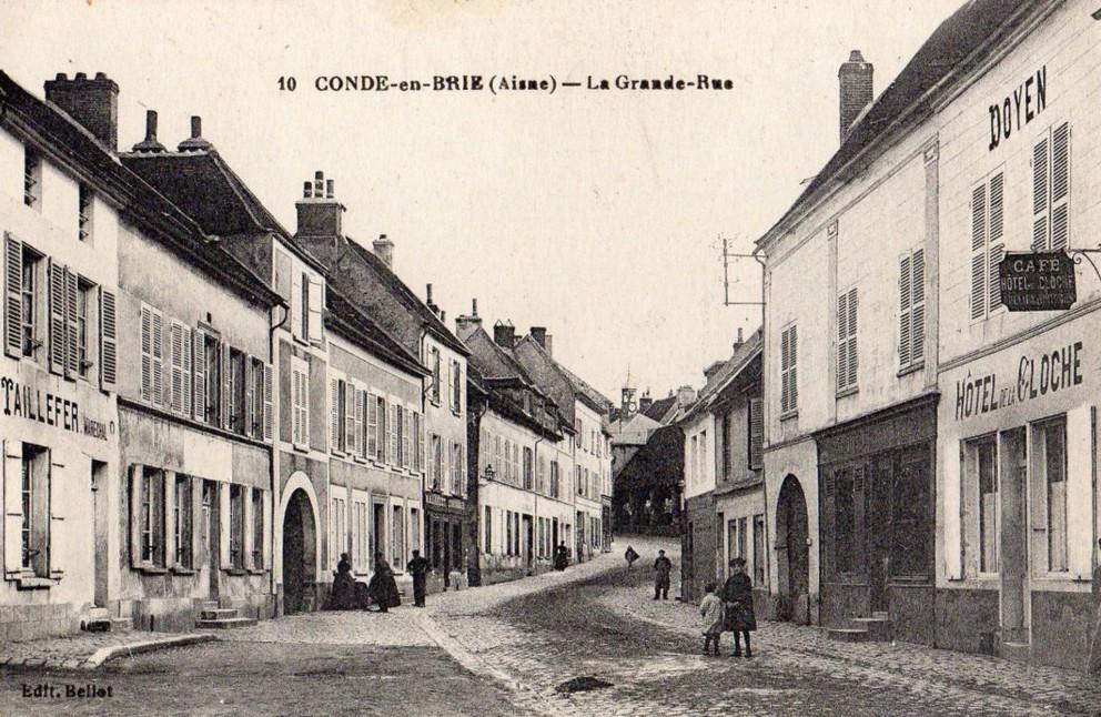 Condé-en-Brie (Aisne) CPA La grande rue