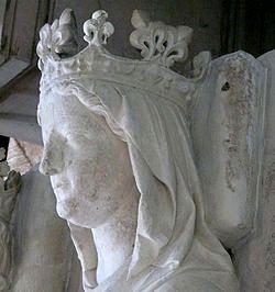 Constance d'Arles, détail gisant