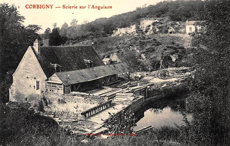 Corbigny (Nièvre) La scierie CPA