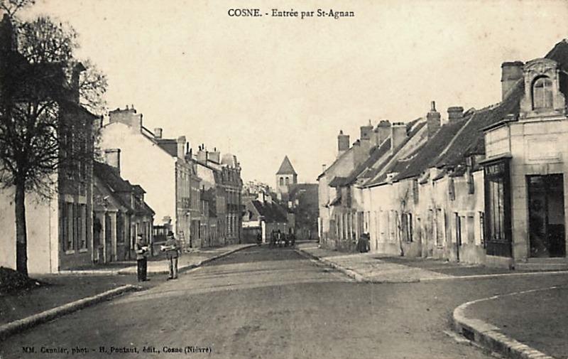 Cosne-Cours-sur-Loire (Nièvre) L'entrée par Saint Aignan CPA