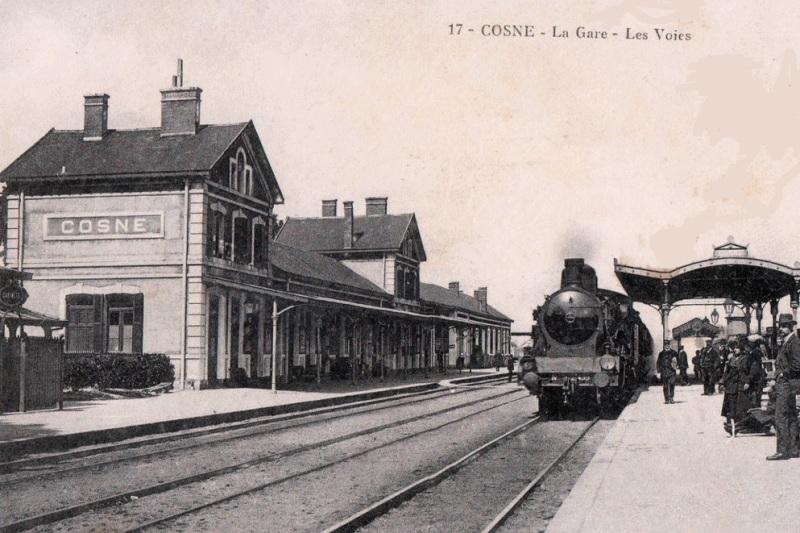 Cosne-Cours-sur-Loire (Nièvre) La gare CPA