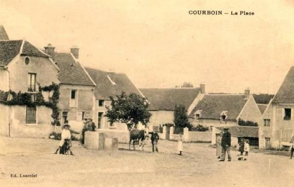 Courboin (Aisne) CPA La place