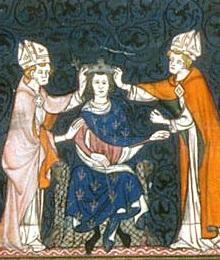 Couronnement de Louis II, enluminure du XIVe