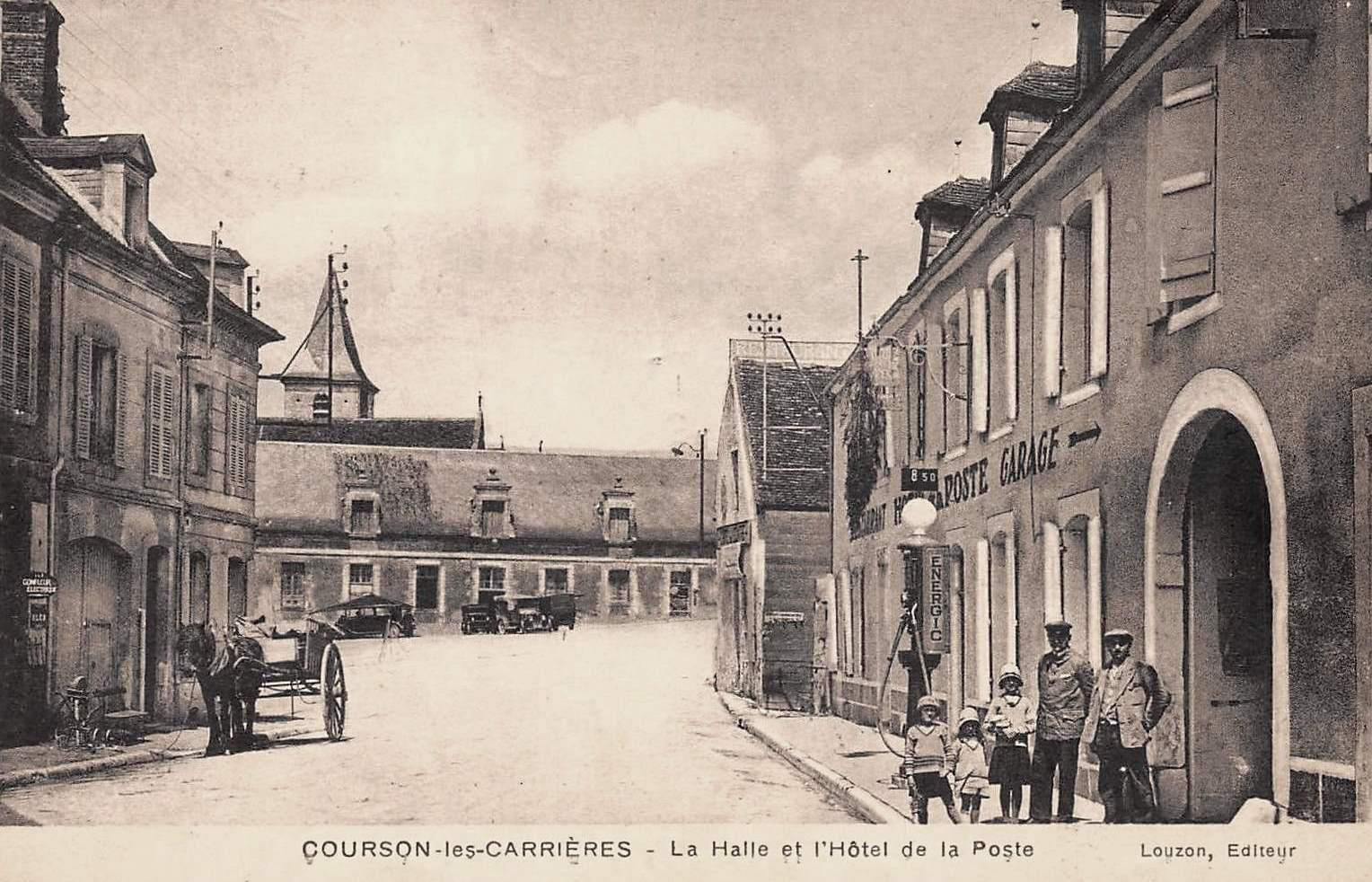 Courson-les-Carrières (89) L'Hôtel de la Poste CPA