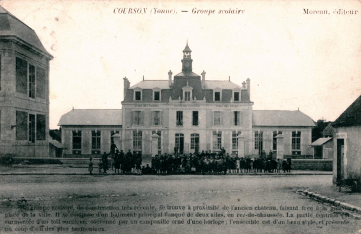 Courson-les-Carrières (89) Le groupe scolaire CPA