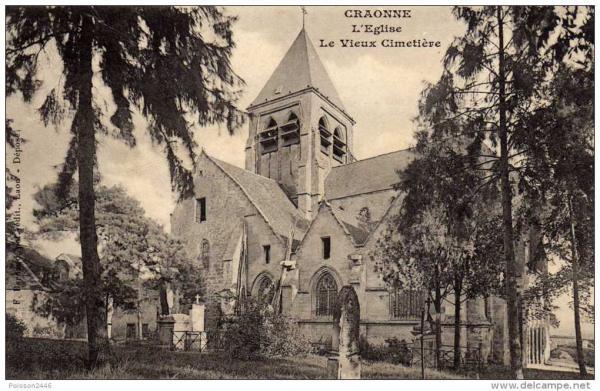 Craonne (Aisne) CPA Eglise Saint Martin avant 1914