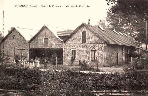 Craonne (Aisne) CPA Hameau de Chevreux (usine de conserves)
