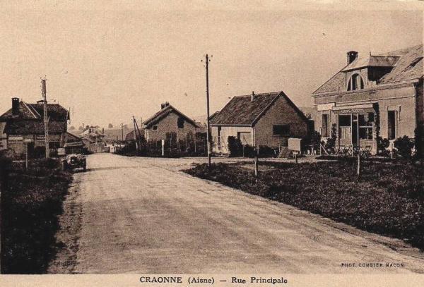 Craonne (Aisne) CPA la rue principale avant 1914