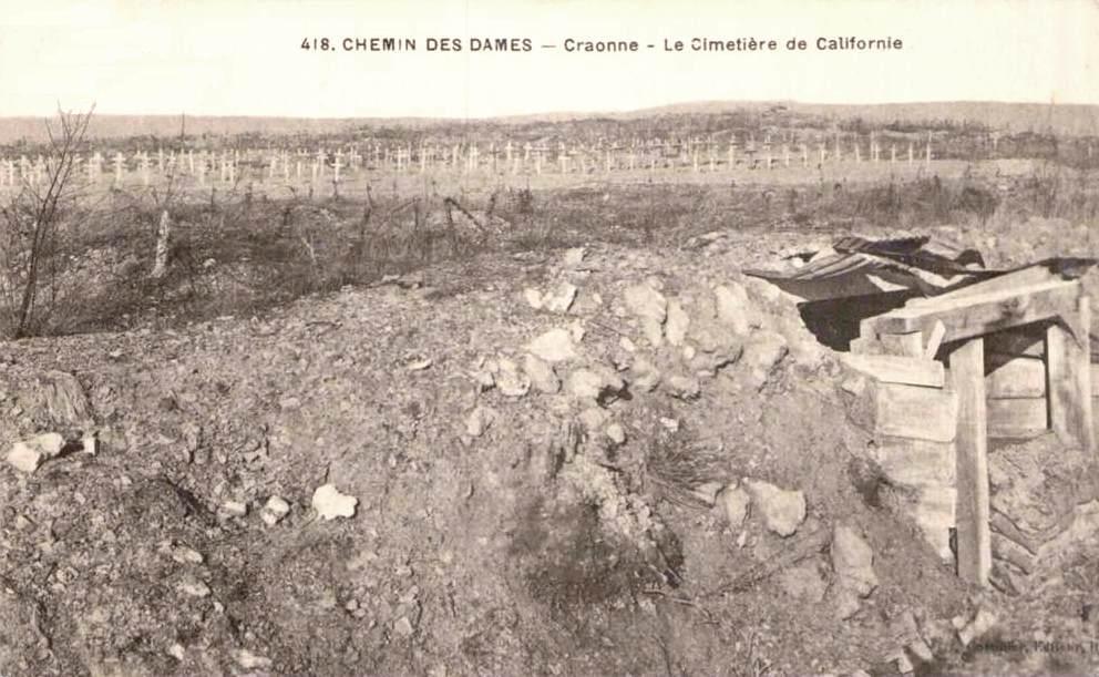 Craonne (Aisne) CPA Plateau de Californie cimetière 1919