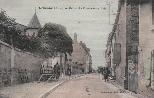 Craonne (Aisne) CPA rue de la fontaine aux buis avant 1914