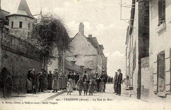 Craonne (Aisne) CPA rue de la fontaine aux buis