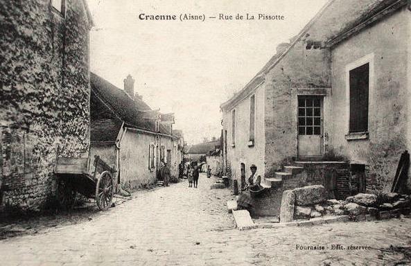 Craonne (Aisne) CPA rue de la Pissotte en 1907