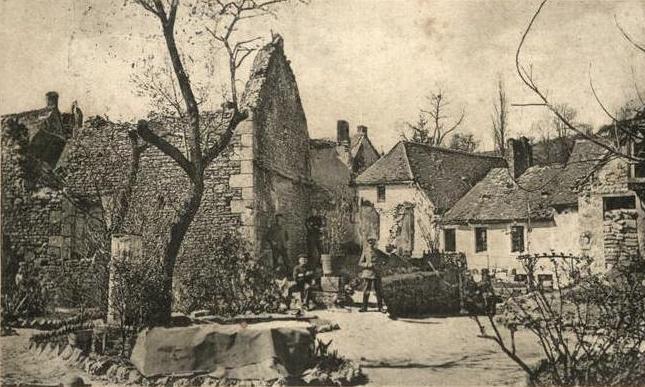 Craonne (Aisne) CPA ruines en 1915