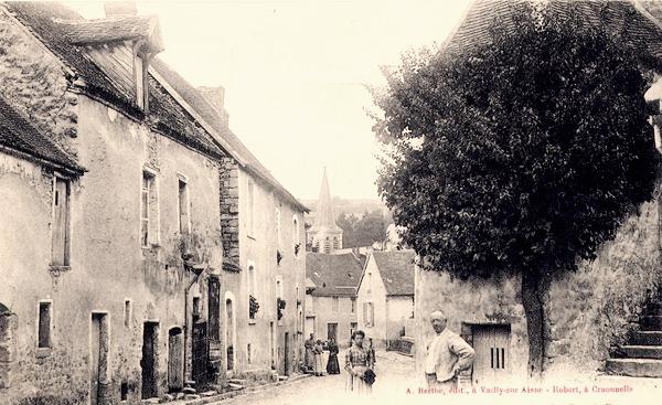 Craonnelle (Aisne) CPA grande rue