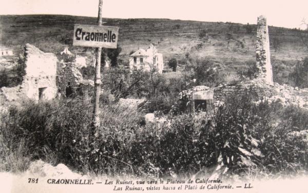 Craonnelle (Aisne) CPA le village en ruines