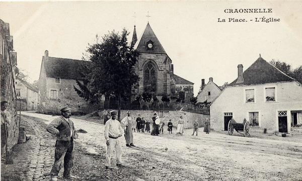 Craonnelle (Aisne) CPA place et église