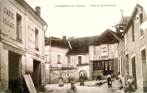 Craonnelle (Aisne) CPA rue du commerce