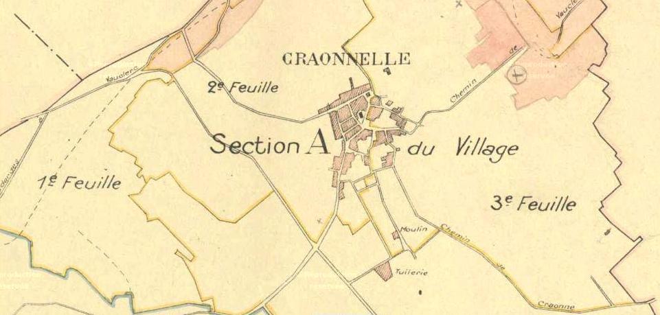 Craonnelle (Aisne) plan cadastre 1826