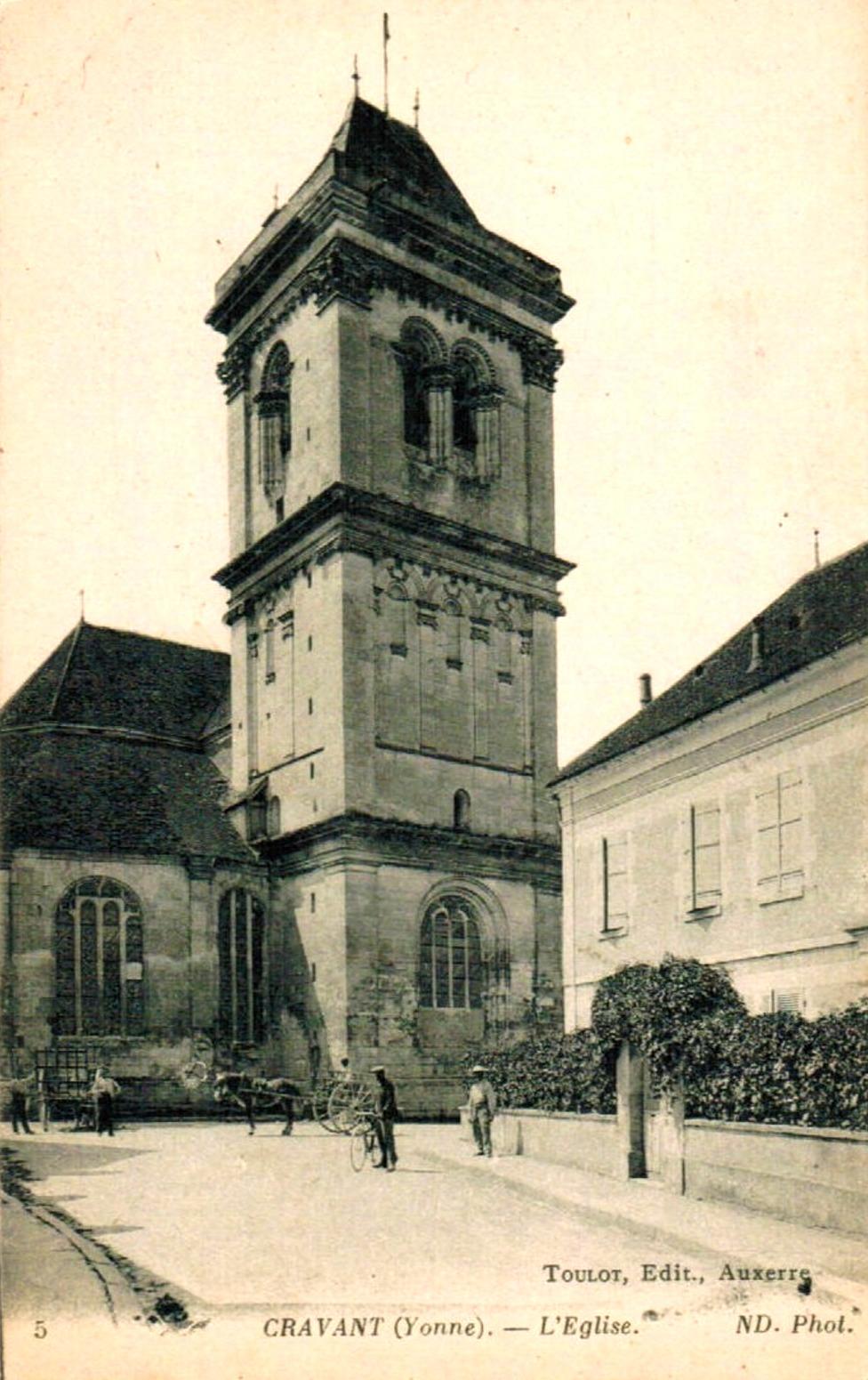Cravant (89) L'église Saint-Pierre Saint-Paul CPA