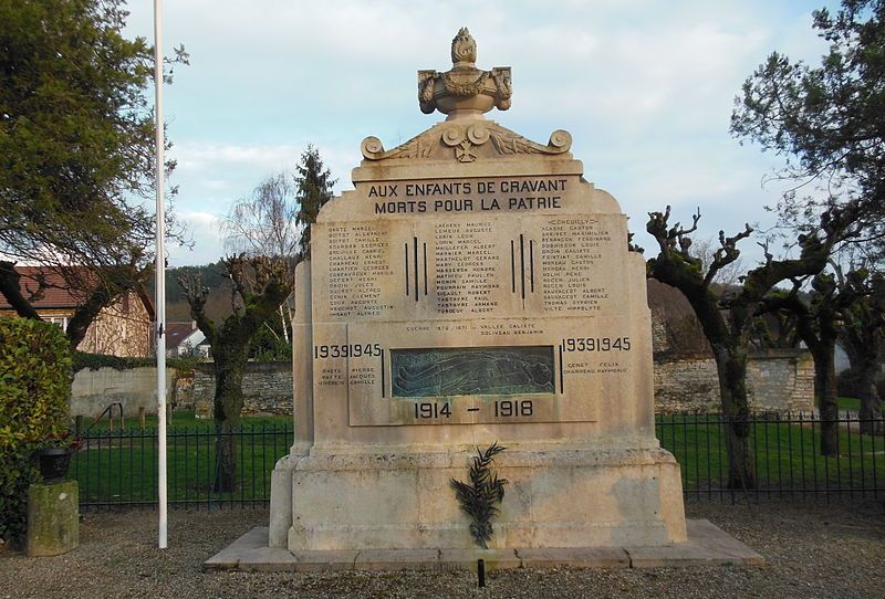 Cravant (89) Le Monument aux Morts