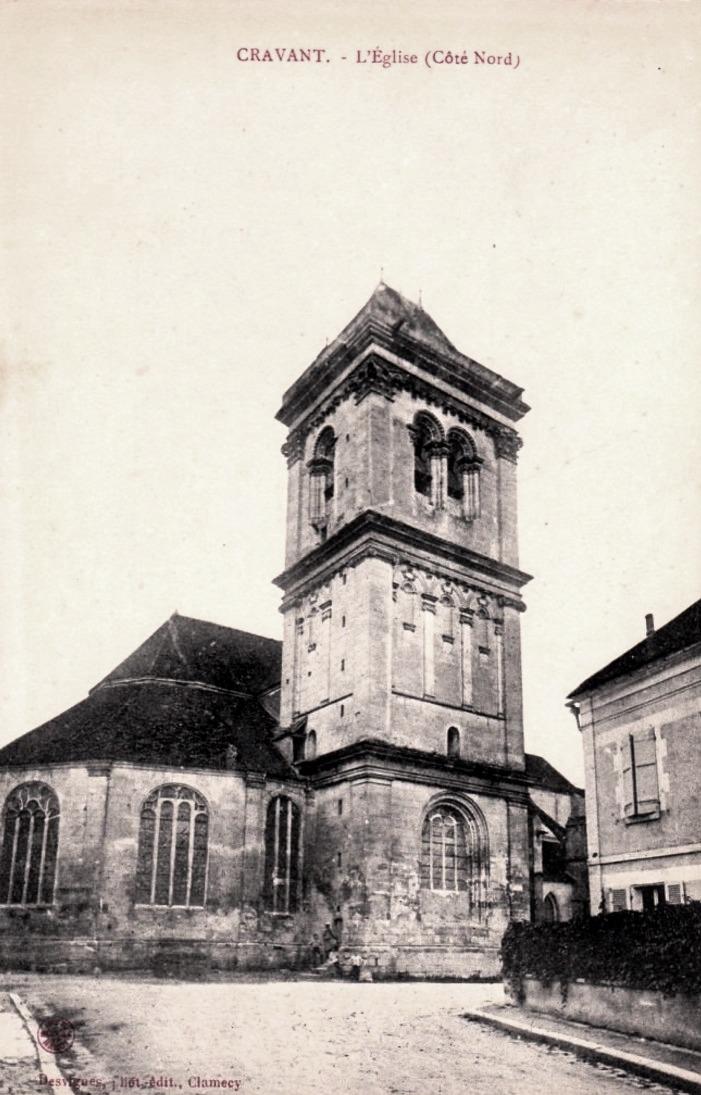 Cravant (Yonne) L'église Saint-Pierre et Saint-Paul CPA