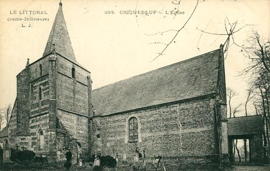 Criquebeuf-en-Caux (Seine Maritime) Eglise Saint Martin CPA