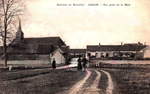 Crucey-Villages (28) L'église CPA