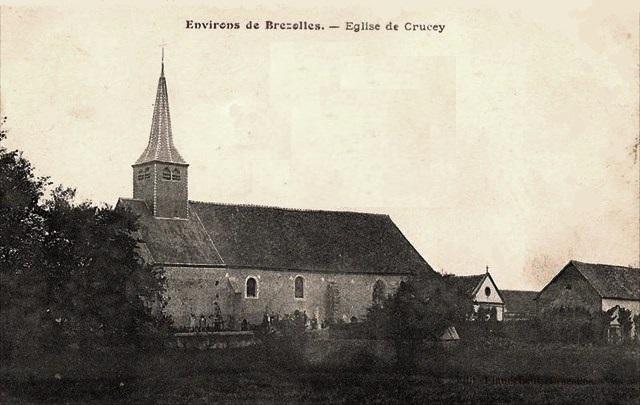 Crucey-Villages (28) L'église Saint-Aignan CPA