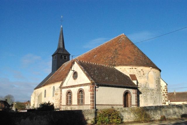 Crucey-Villages (28) L'église Saint-Aignan