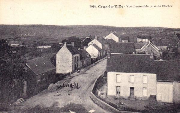 Crux-la-Ville (Nièvre) Vue aérienne CPA