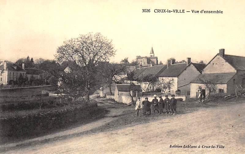 Crux-la-Ville (Nièvre) Vue générale CPA