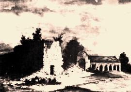 Cuissy-et-Gény (Aisne) CPA Abbaye chapelle et boulangerie en 1859
