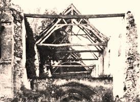 Cuissy-et-Gény (Aisne) CPA Grenier des celliers après 1918