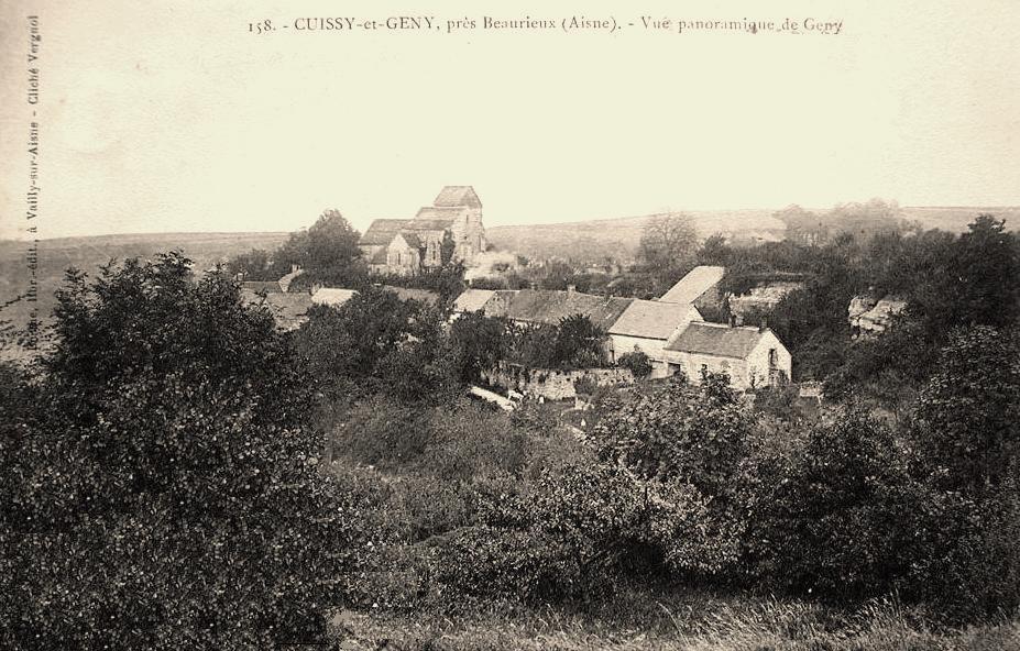 Cuissy et Gény (Aisne) Vue générale Gény