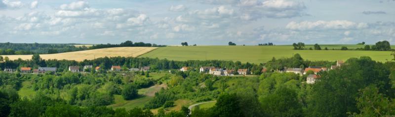 Cuissy-et-Gény (Aisne) vue panoramique