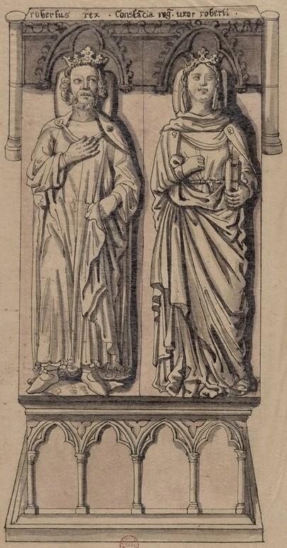 Robert II et son épouse Constance d'Arles