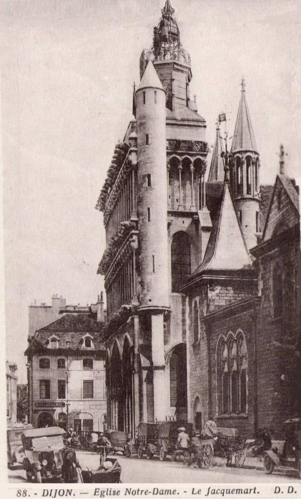 Dijon (Côte d'Or) L'église Notre-Dame CPA